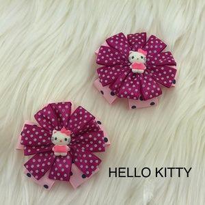 NWOT Hello Kitty Girl's Hair bow ribbon clip